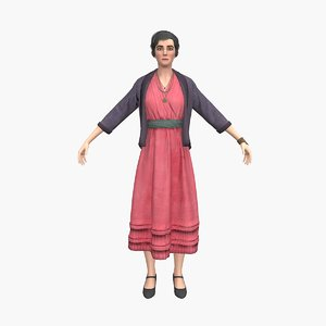 grandmother v4 3D model