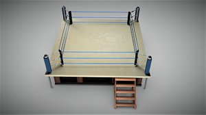 3D wwe arena ring