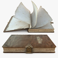 Old Engraved Book, Rigged, 8K PBR, Animated