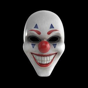 3D joker mask