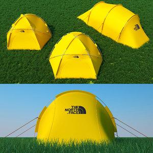 3D tent mountain