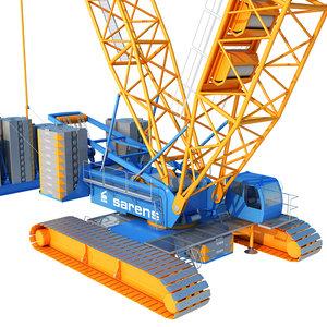 crawler crane 3D