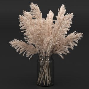 bouquet pampas 3D
