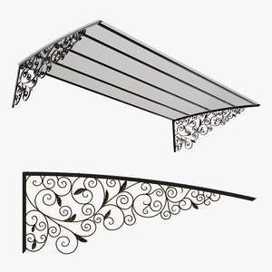 3D metal canopy home shop model