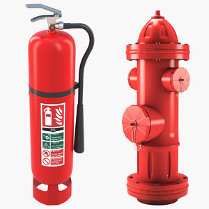 3D extinguisher hydrant