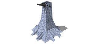 3D turret laser model