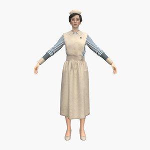 nurse 01 3D model