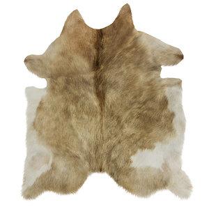 3D wool european rug cowhide model