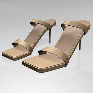 stylish strappy square-toe stiletto model