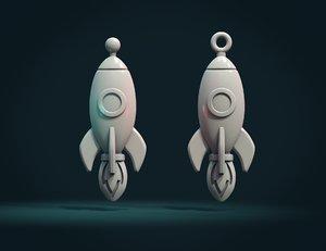 rocket charm 3D model