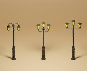 street lights pack 3D