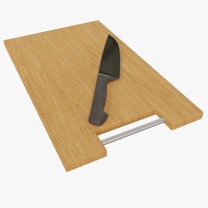 chopping board knife 3D model