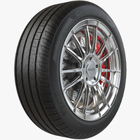 Car Wheel Rim and Tire PBR 8K