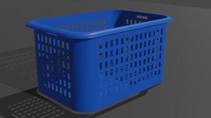 blue basket 3D