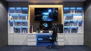 3D gamer desk
