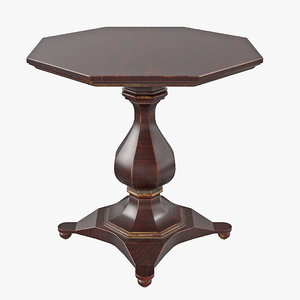 3D old octagonal coffee table