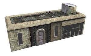 3D model slum building