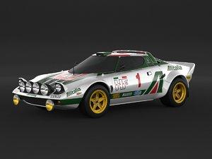 3D lancia stratos rally model