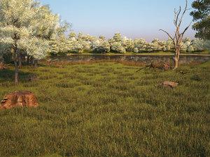 landscape lake model