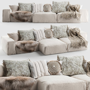hendrix sofa 3 3D model