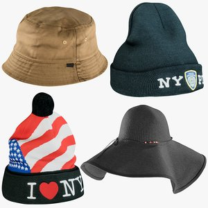 3D realistic hats 11 collections