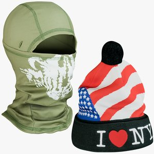 3D realistic hats 8 balaclava model
