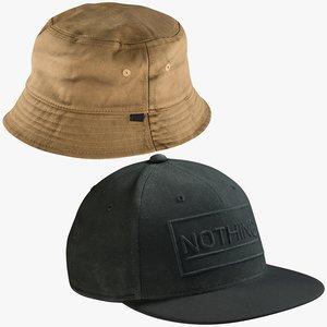 3D model realistic hats 9 cap