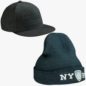 realistic hats 7 cap model