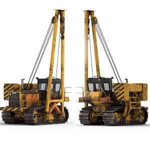 3D industry construction vehicle model