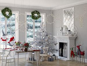 interior christmas 3D model