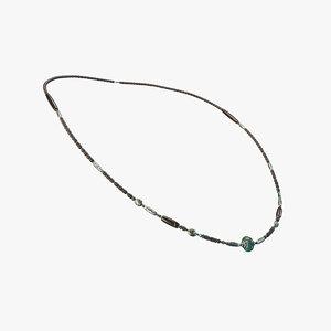 necklace neck 3D model