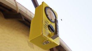 3D yellow geiger counter