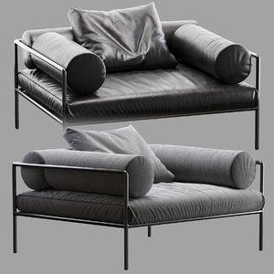 agra armchair 3D model