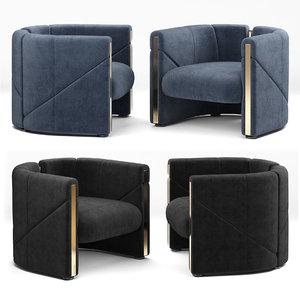 armchair visionnaire 3D model