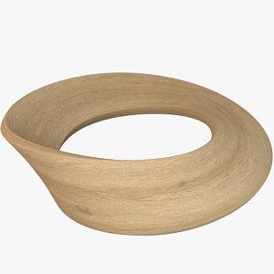 mobius strip wood 3D model