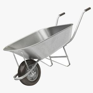 3D wheel barrow model