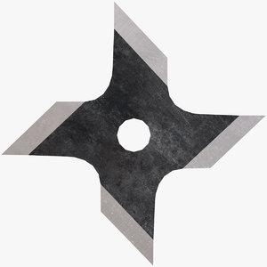 3D circle throwing star