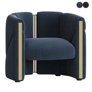 3D model visionnaire petra armchair
