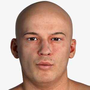 3D real pbr marcus human head