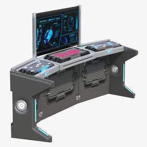 3D model sci-fi desk