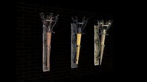 torch 3 different sets 3D model
