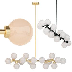 bubble stik cold chandelier 3D model