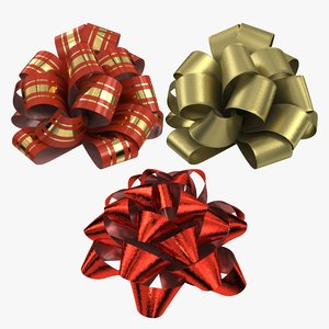 realistic gift bow 3D model