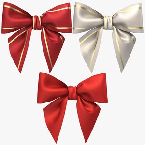 3D realistic gift bow model