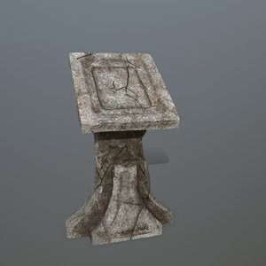 lectern 3D model