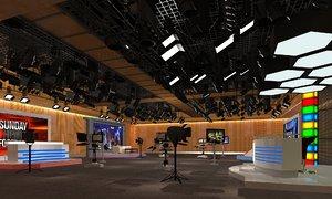 tv studio interior set model