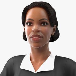 3D light skin judge woman rigged