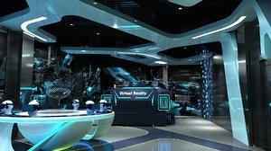 3D model vr showroom interior