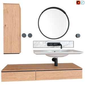 pencil case sink nudaflat 3D model