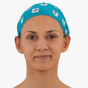 3D athena human head cheek